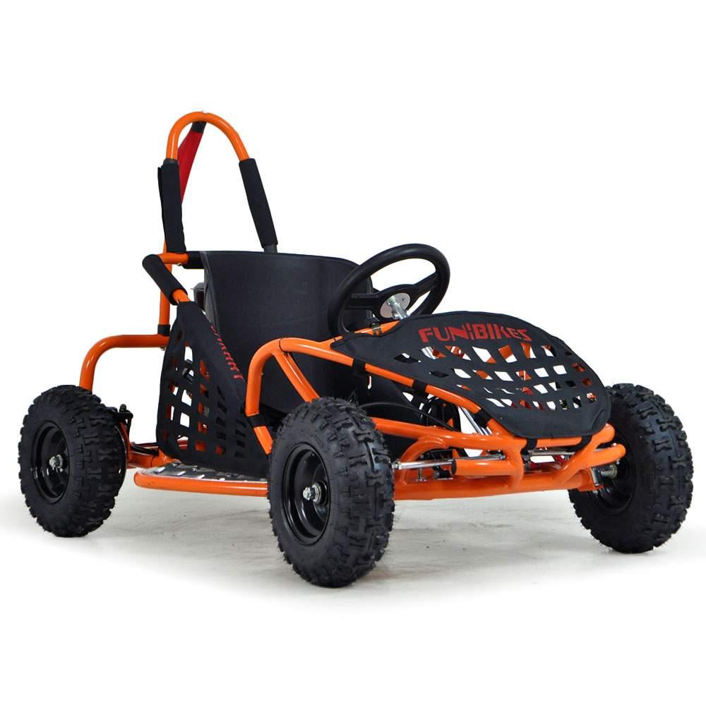 funbikes funkart 79cc petrol orange kids mini go kart. Black Bedroom Furniture Sets. Home Design Ideas