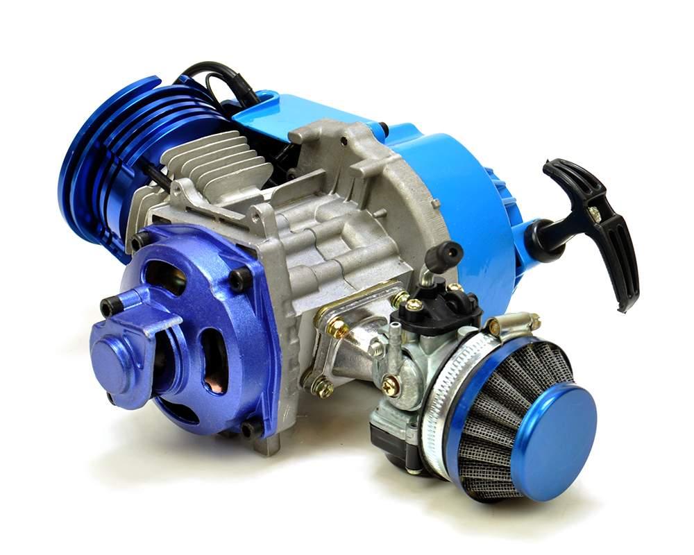 Mini Moto Quad Motard Dirt Bike 50cc Race Engine Blue