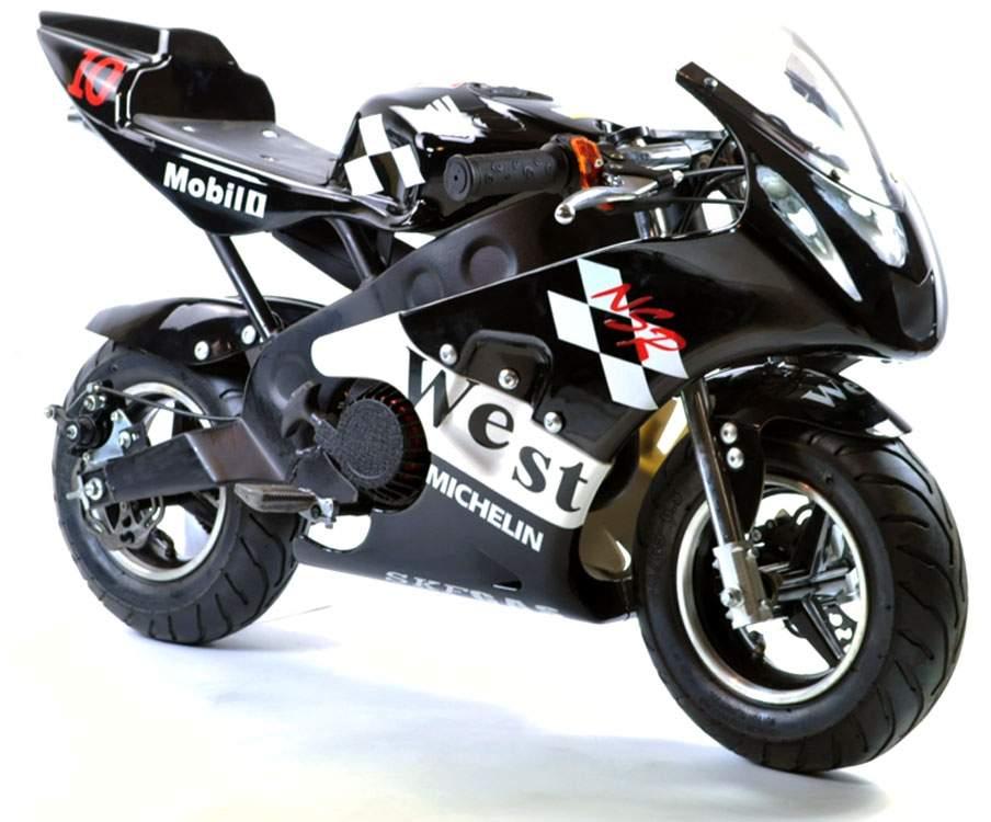 FunBikes MT4A 50cc 46cm Petrol Black Mini Moto Racing Bike