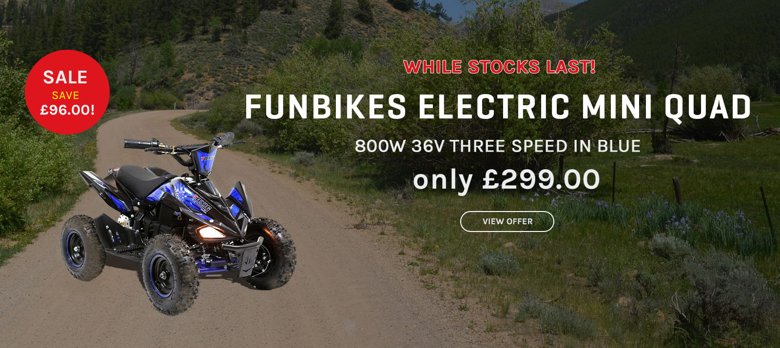 Funbikes Mini Quad Offer