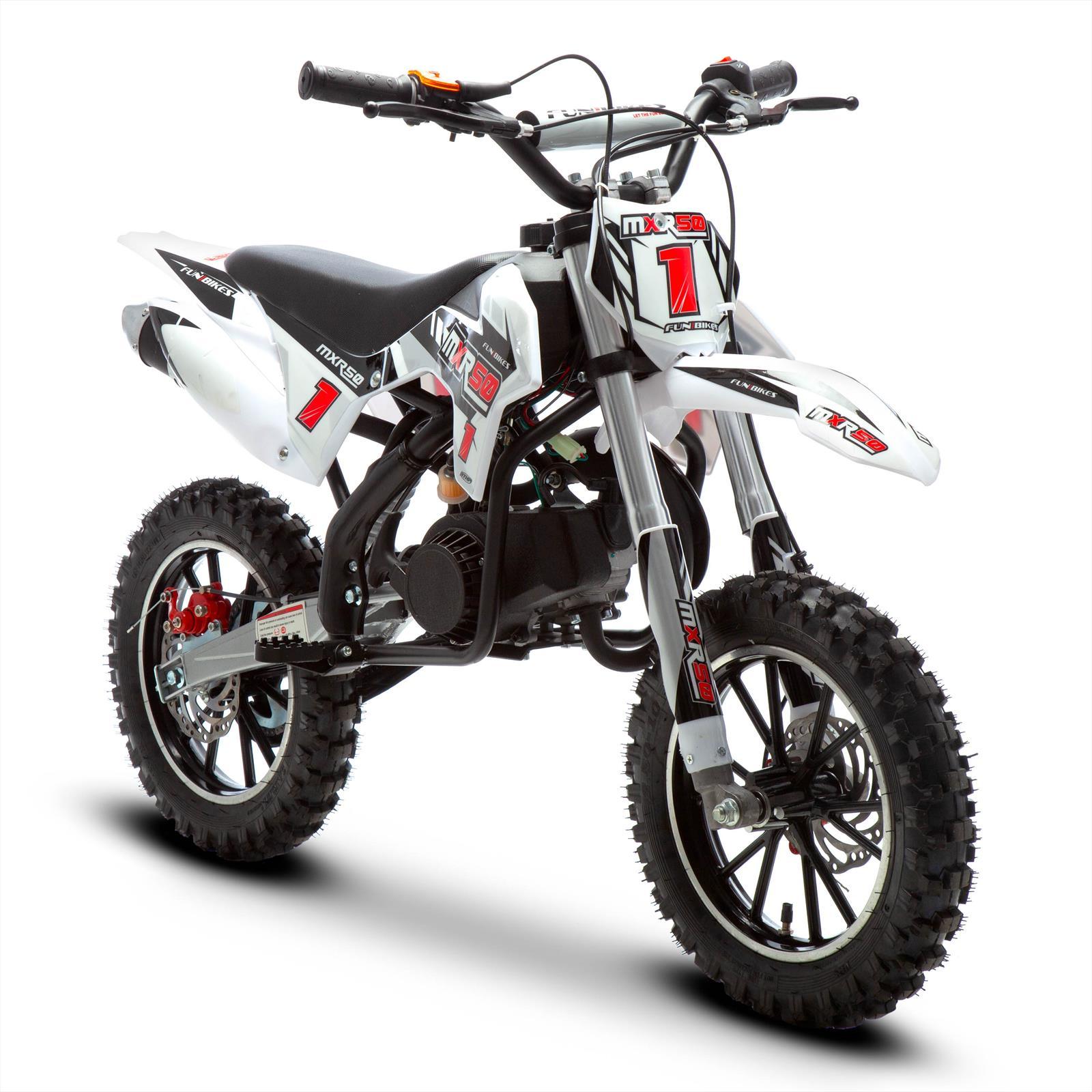 Funbikes Mxr 50cc 61cm Black Kids Mini Dirt Motorbike