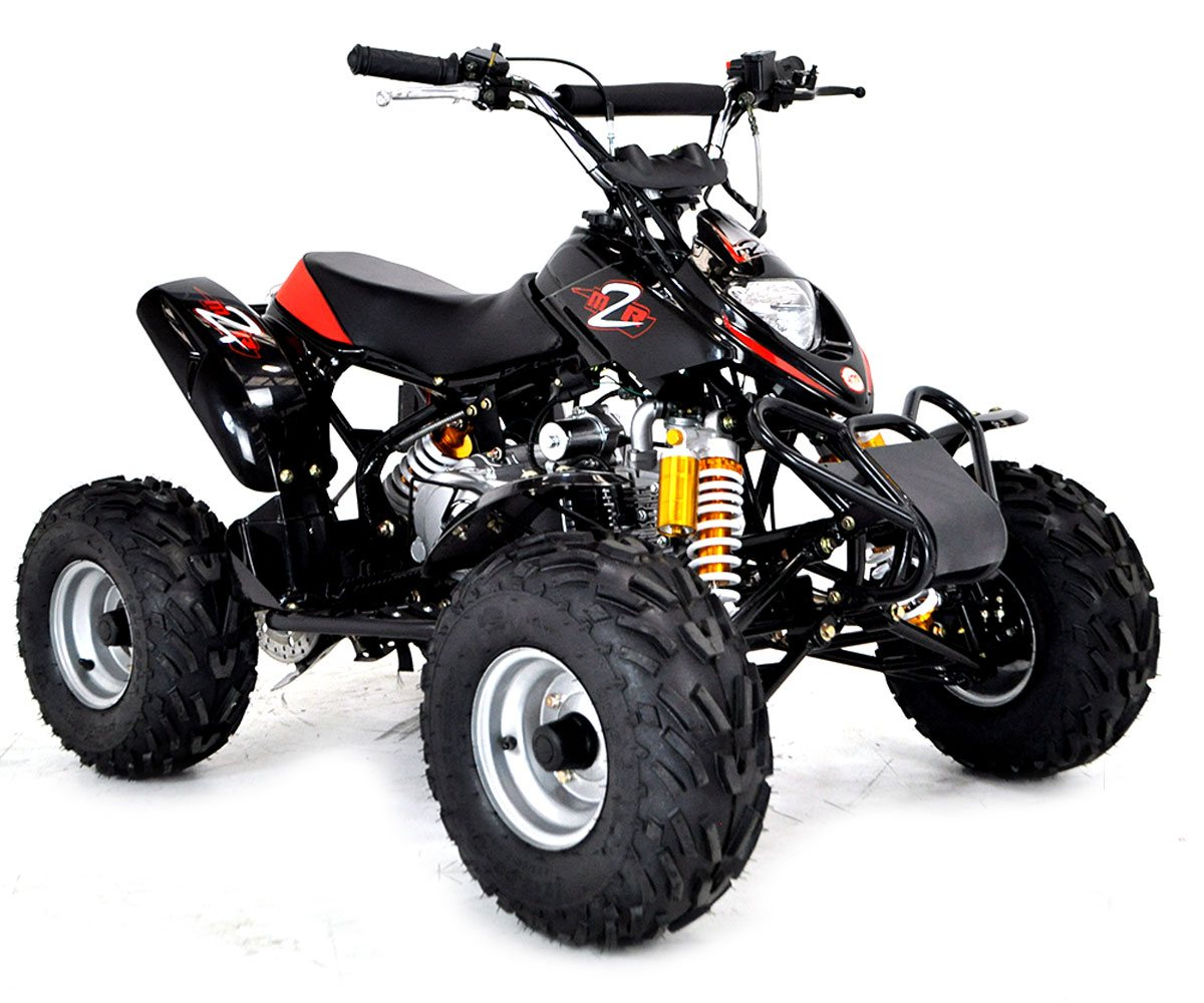 M2R CM110 110cc Black Kids Quad Bike