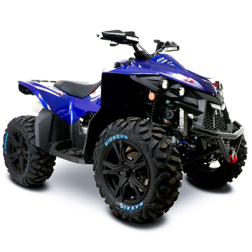 Street Bike Quad: SMC MBX 850 Blue Sport V-Twin EPS Road Legal Quad Bike