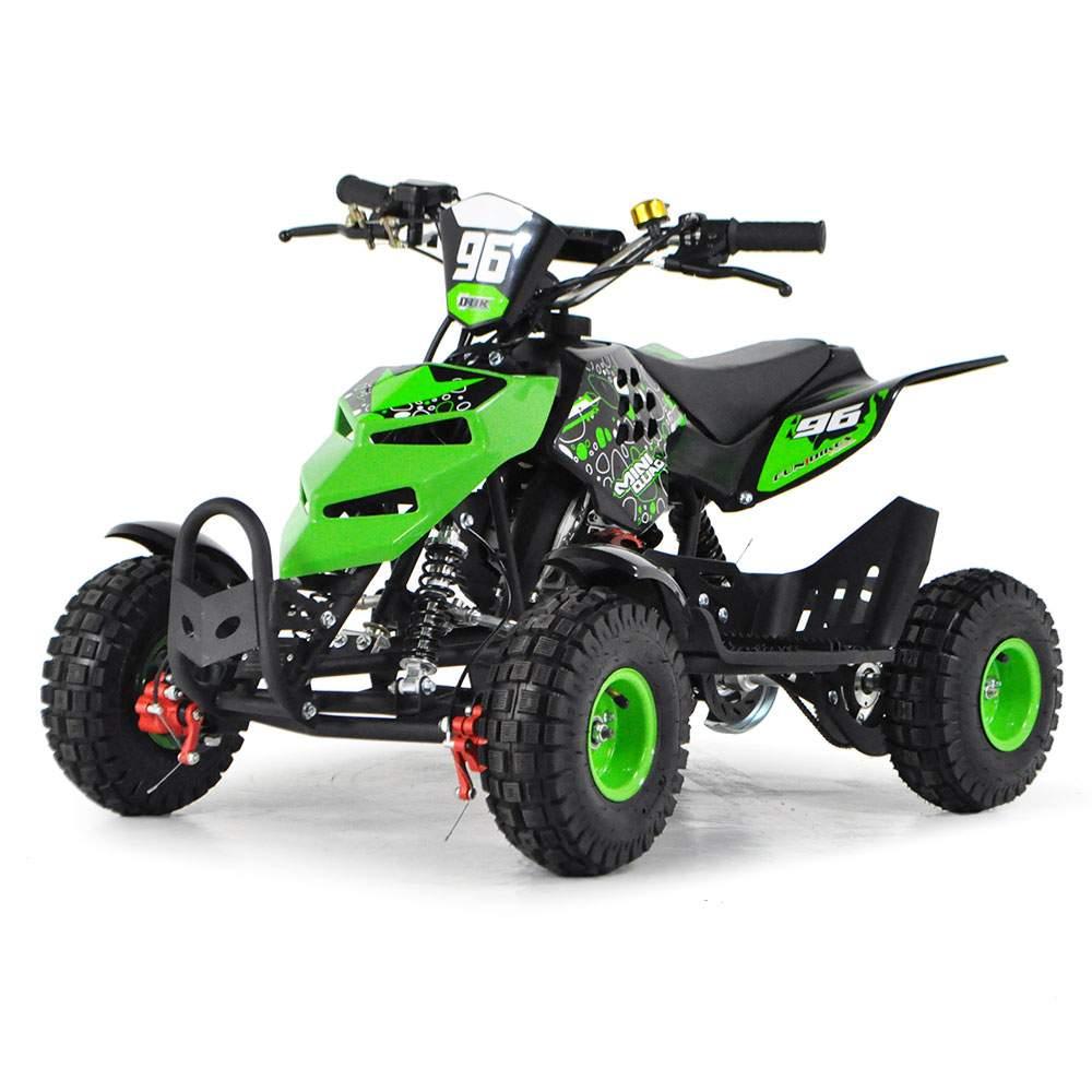 funbikes 49cc petrol green kids mini quad bike. Black Bedroom Furniture Sets. Home Design Ideas