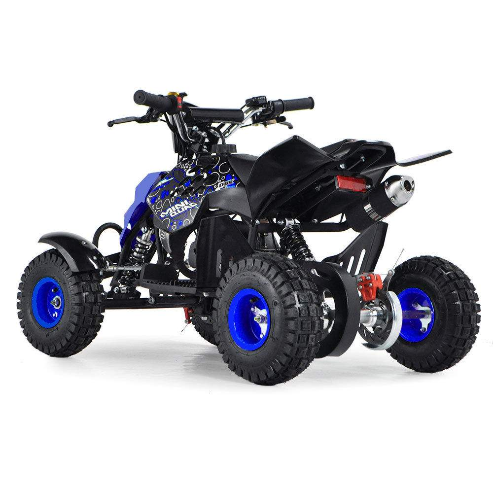 Funbikes 49cc Petrol Blue Kids Mini Quad Bike