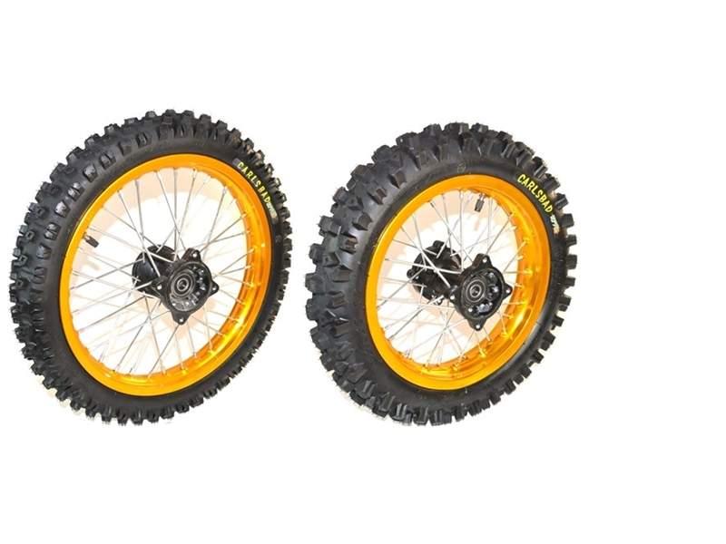 Pit Bike Wheels 14 12 Inch Kenda Tyres Gold Alloy Rim