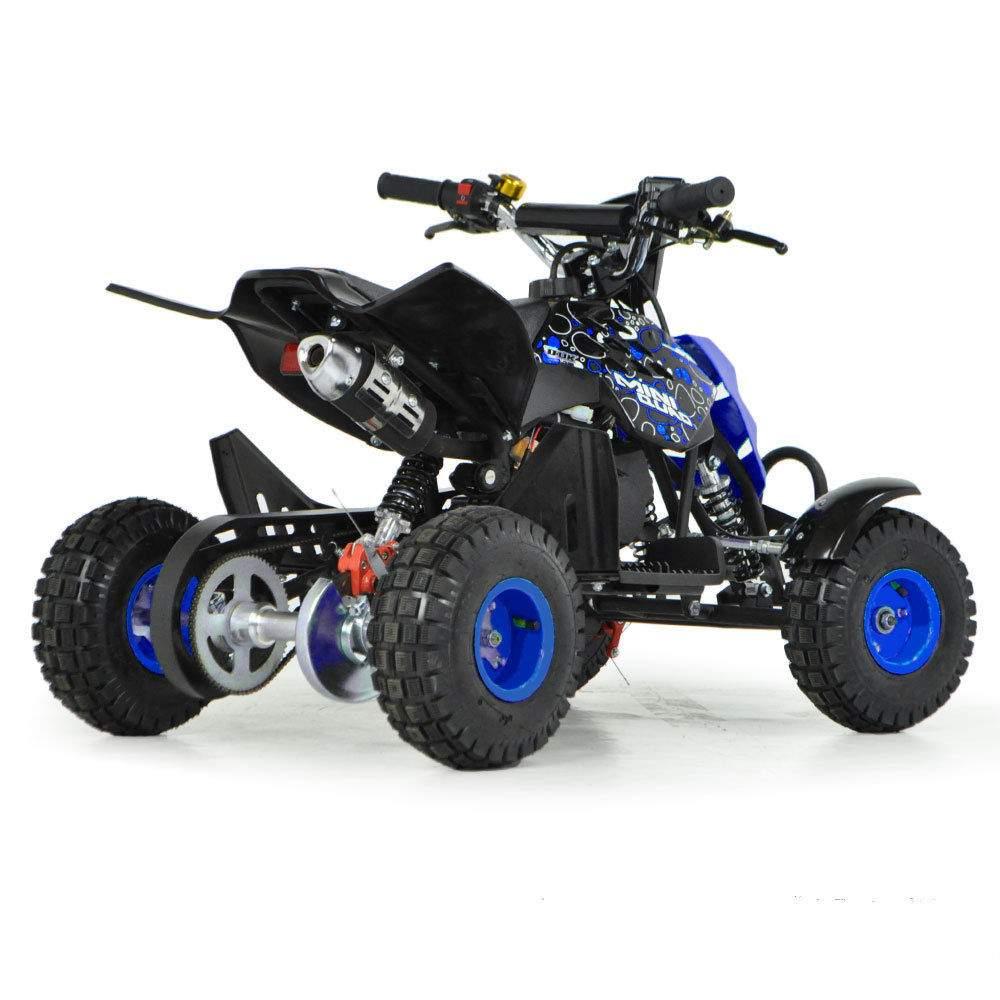 funbikes 49cc petrol blue kids mini quad bike. Black Bedroom Furniture Sets. Home Design Ideas