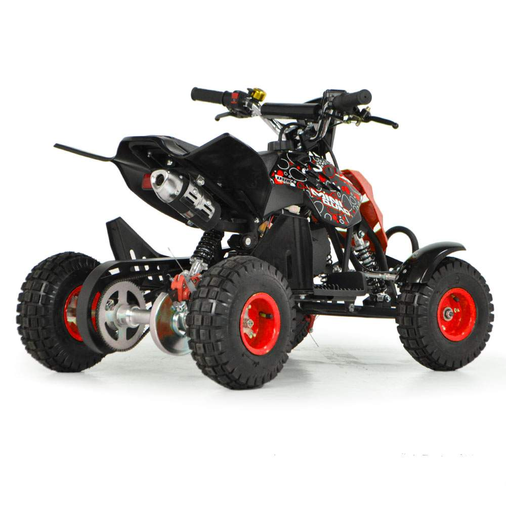 Funbikes 49cc Petrol Red Kids Mini Quad Bike