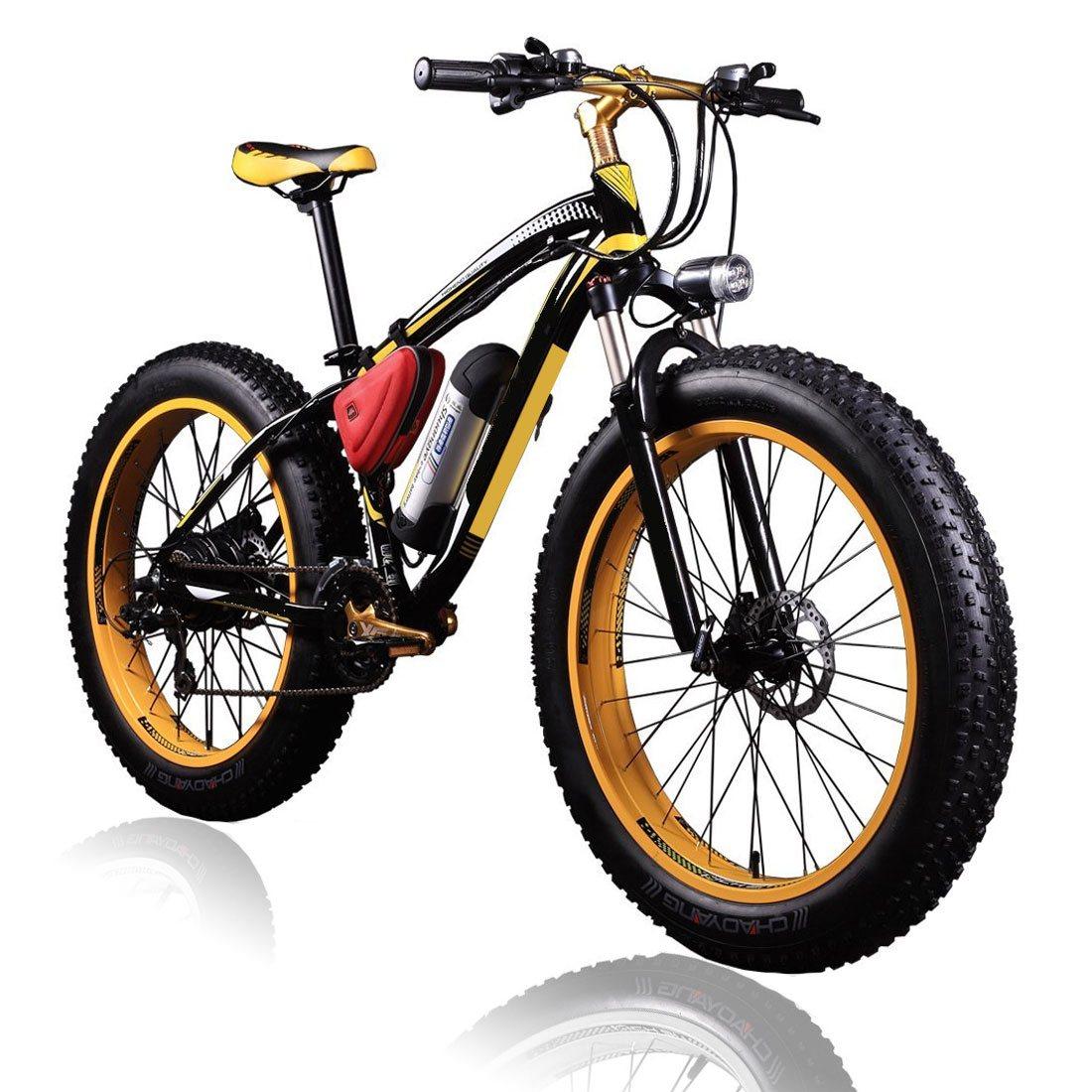 Electric Fat Bike 36v 350w Lithium Yellow