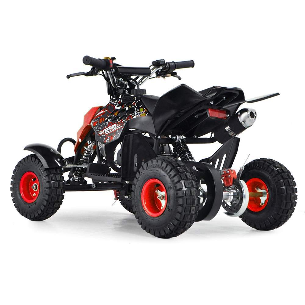 funbikes 49cc petrol red kids mini quad bike. Black Bedroom Furniture Sets. Home Design Ideas