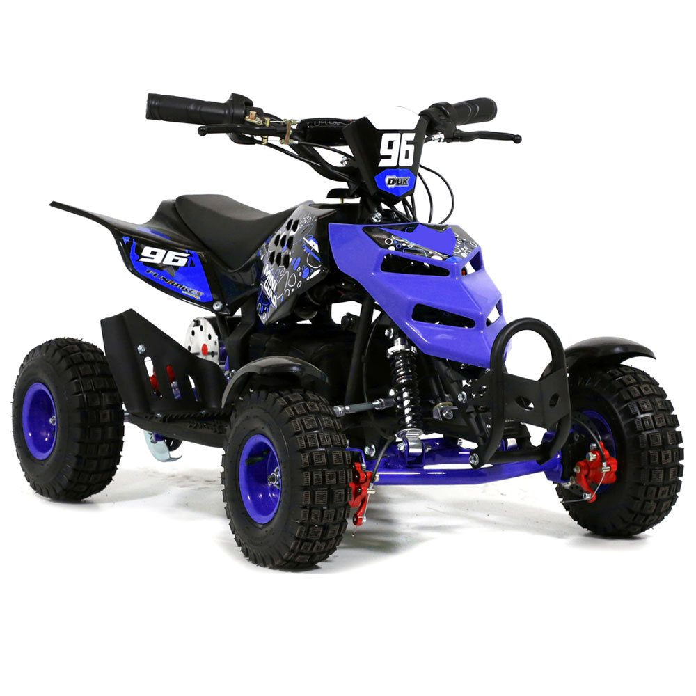 funbikes 800w blue electric kids mini quad bike. Black Bedroom Furniture Sets. Home Design Ideas