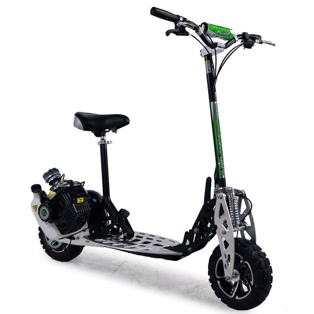 uber scoot 2x 71cc petrol scooter big wheel off road. Black Bedroom Furniture Sets. Home Design Ideas