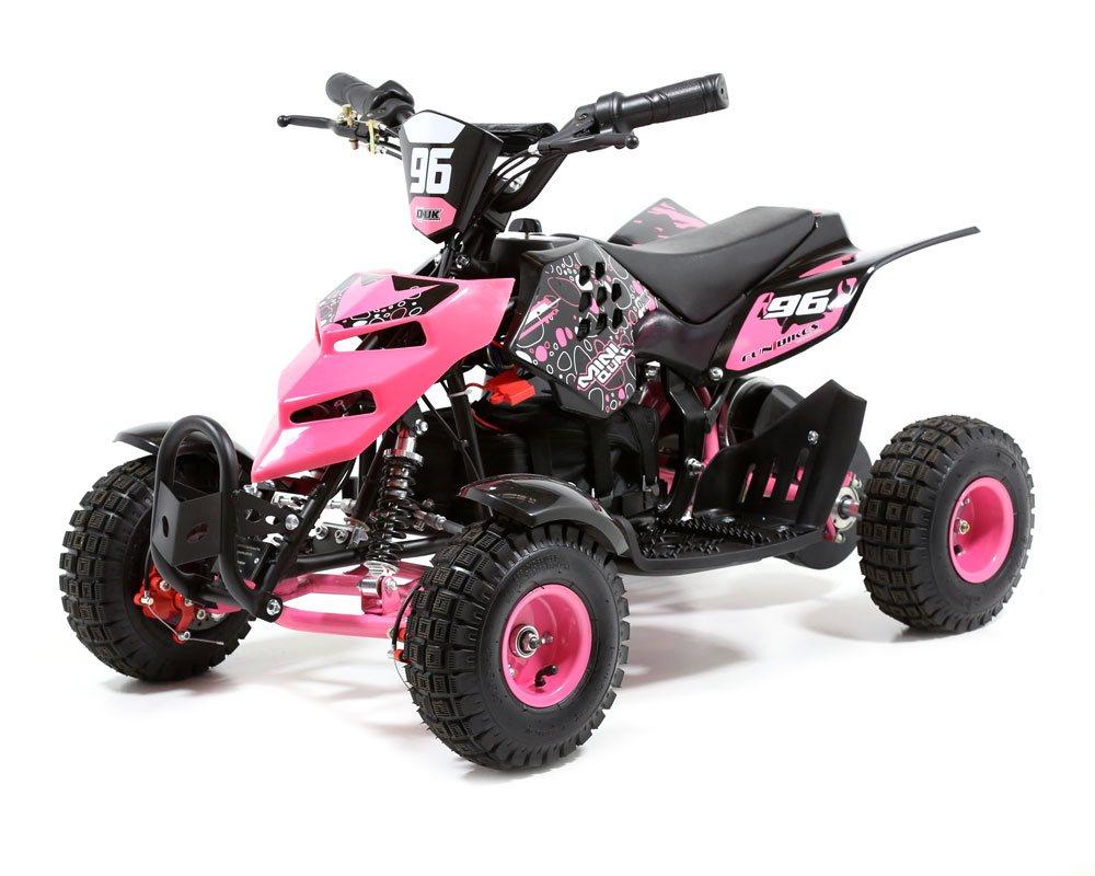 funbikes 800w pink battery powered electric kids mini quad bike. Black Bedroom Furniture Sets. Home Design Ideas