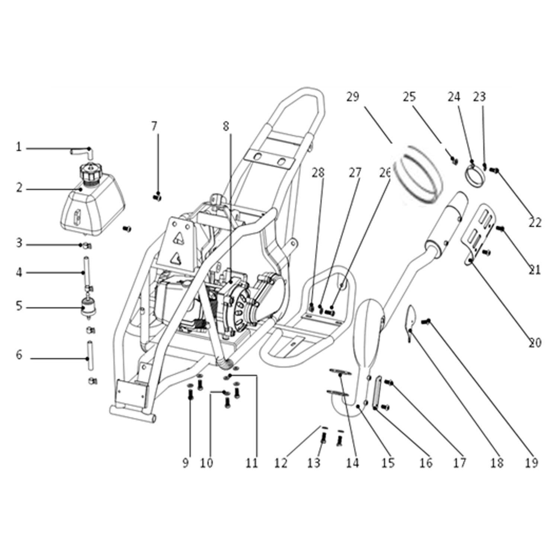 Genuine Suzuki LT50 Mini ATV Quad Muffler Nut 08310-0006A-000