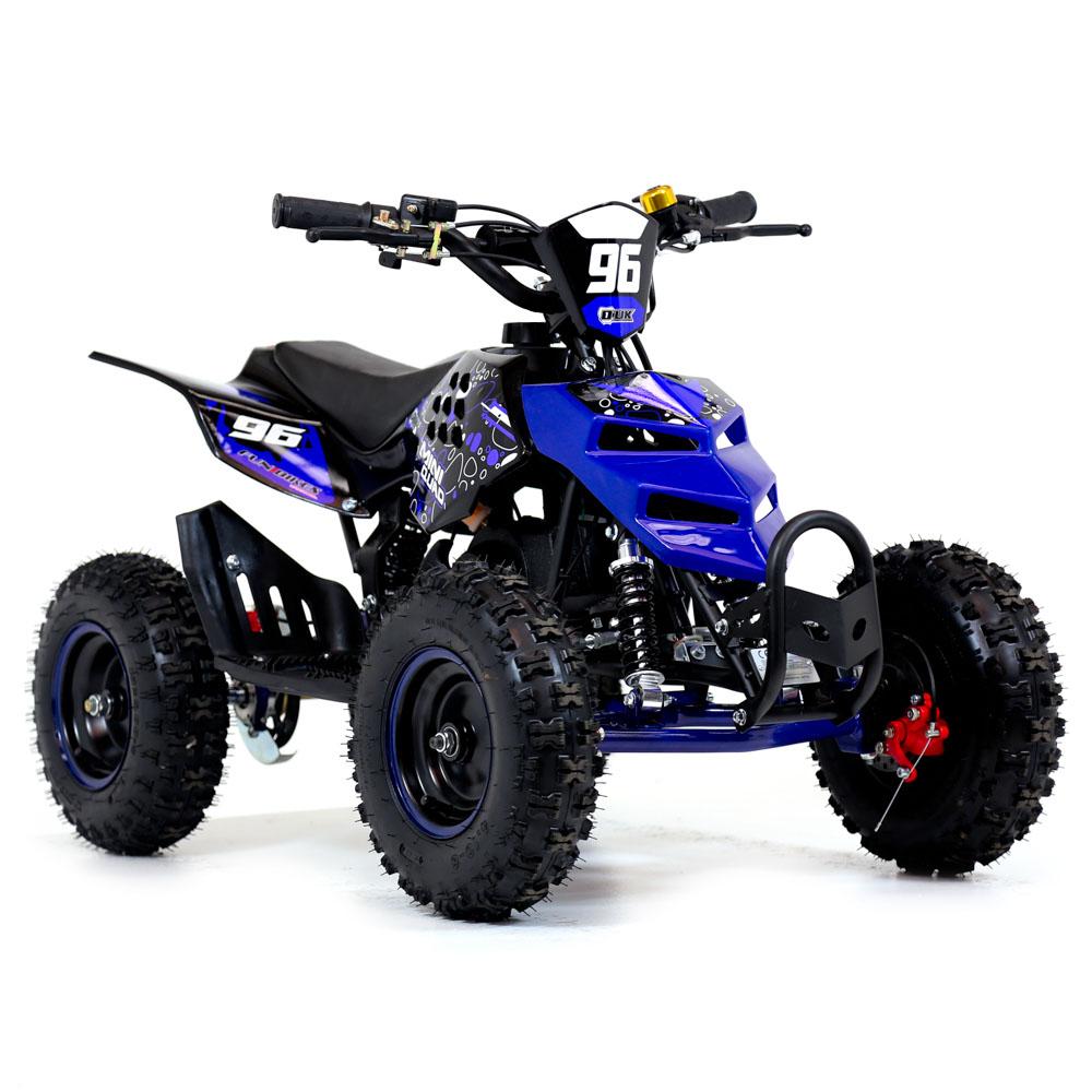 funbikes 49cc blue kids big wheel mini quad bike. Black Bedroom Furniture Sets. Home Design Ideas