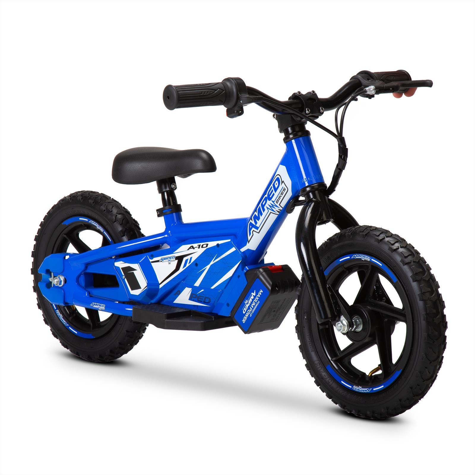 Amped A10 Blue 100w Electric Kids Balance Bike