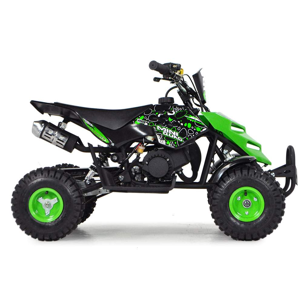 funbikes 49cc petrol green kids mini quad bike. Black Bedroom Furniture Sets. Home Design Ideas
