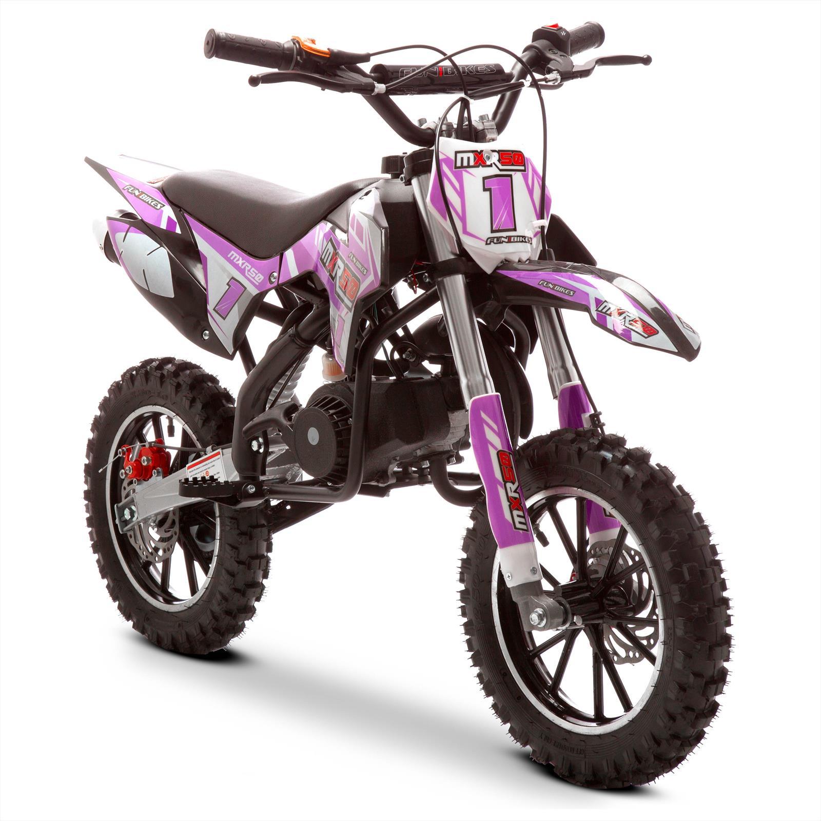 Funbikes Mxr 50cc Motorbike 61cm Pink Black Kids Dirt Bike