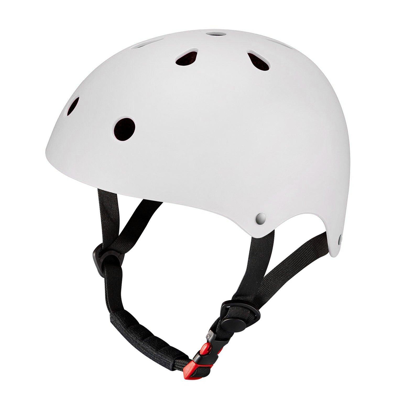 Chaos Kids Scooter Helmet Matte White