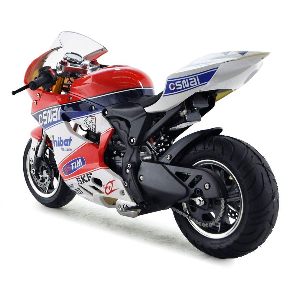 funbikes dp4 50cc petrol blue red midi moto race bike. Black Bedroom Furniture Sets. Home Design Ideas