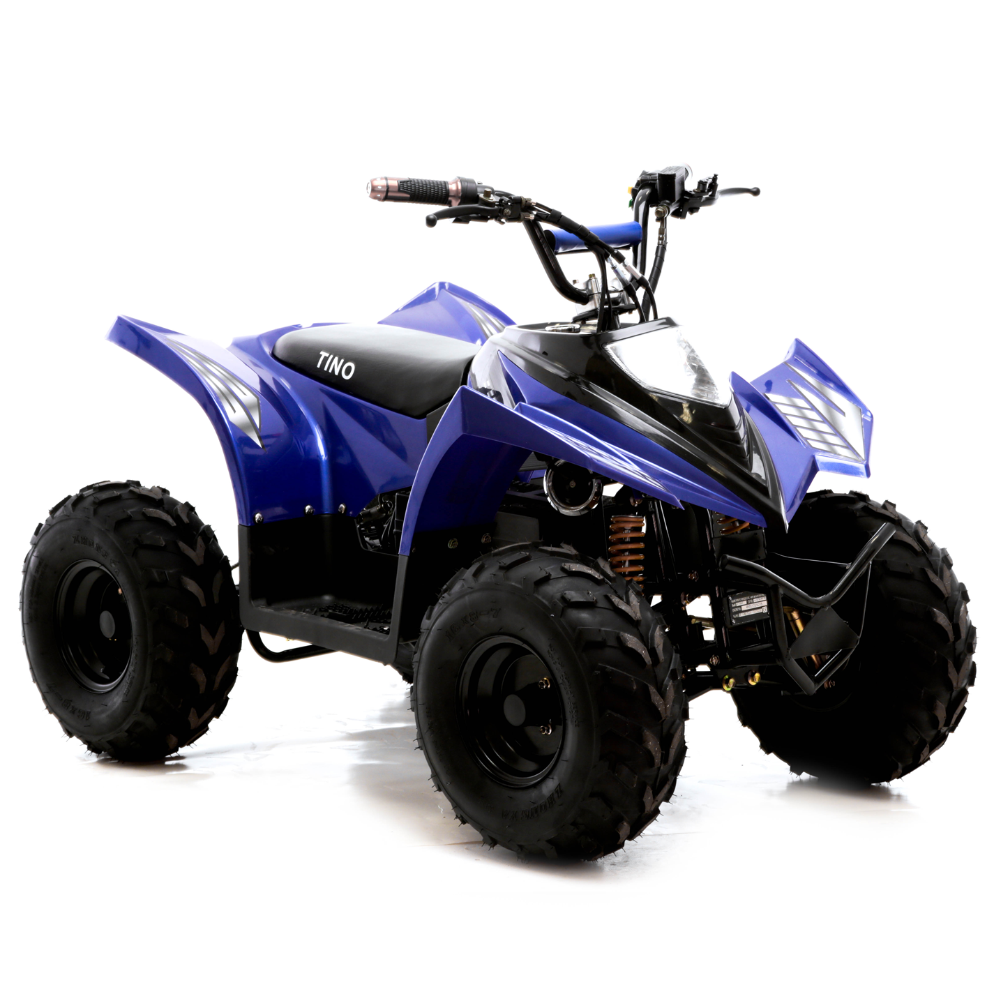 funbikes tino rally 750w blue electric childs quad bike. Black Bedroom Furniture Sets. Home Design Ideas