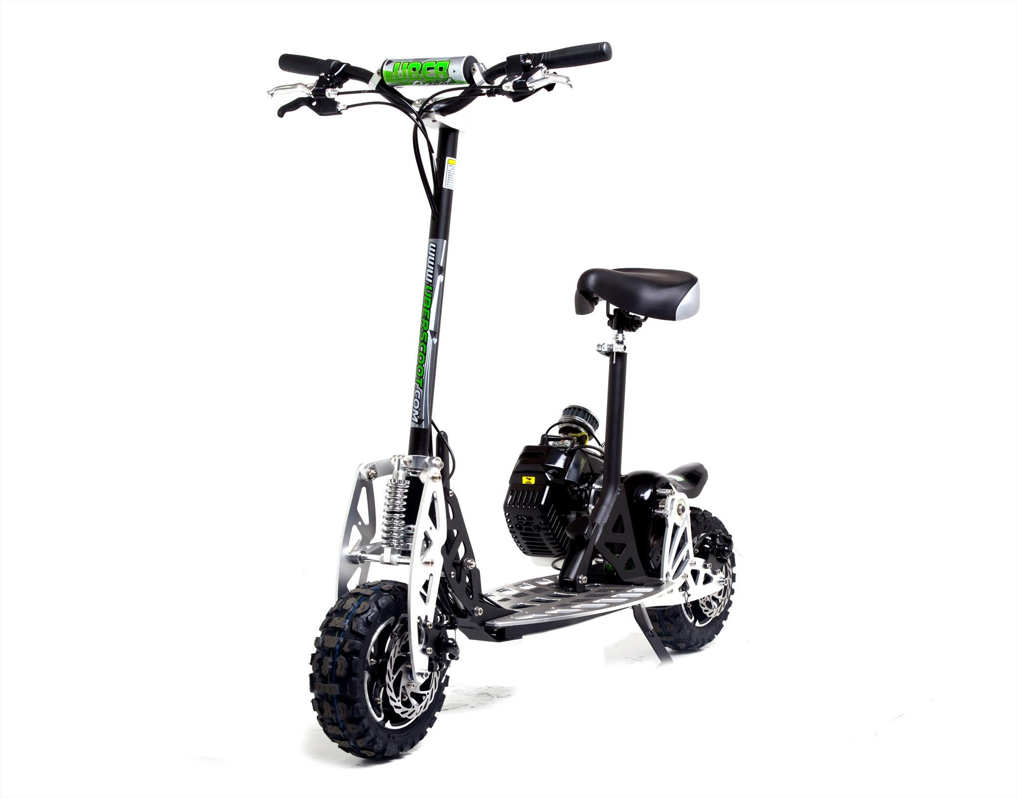 uber scoot 2x 50cc petrol scooter big wheel off road powerboard