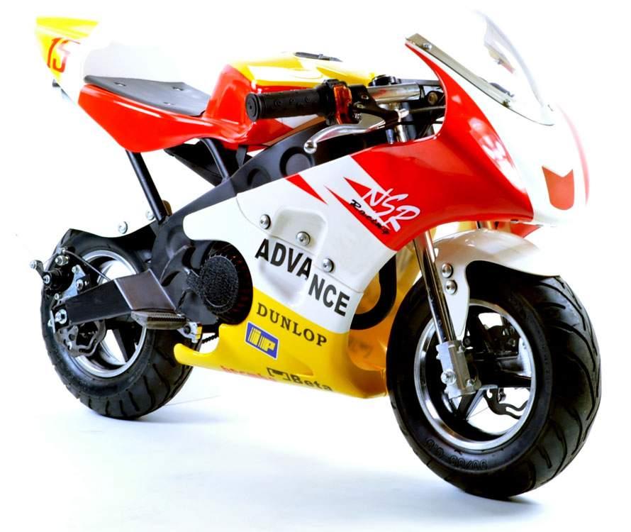 FunBikes MT4A 50cc 46cm Red Yellow Mini Moto Racing Bike