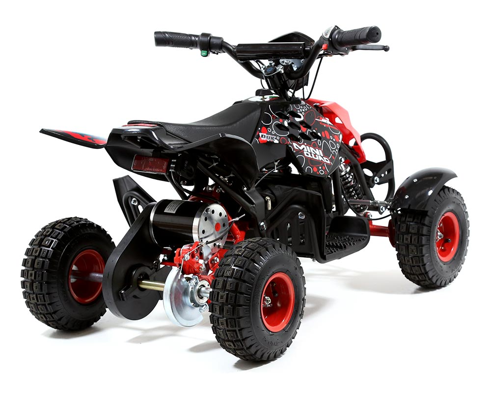 funbikes 800w red battery powered electric kids mini quad bike. Black Bedroom Furniture Sets. Home Design Ideas