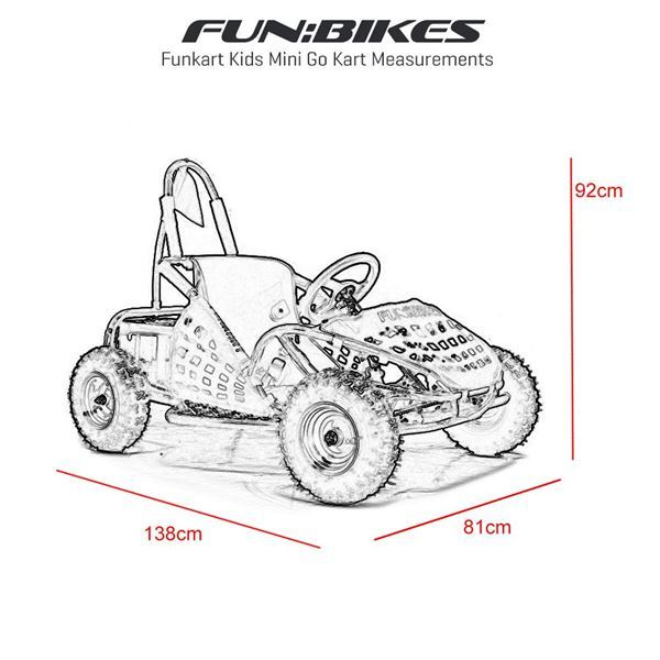 FunBikes Funkart 1000w Electric Orange Kids Mini Go Kart