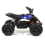 FunBikes Toxic 800w Black Blue Kids Electric Mini Quad Bike