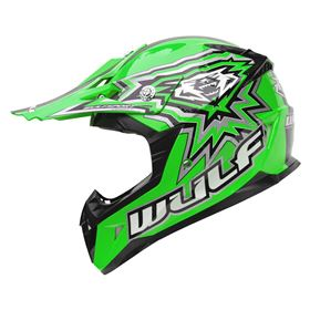 Wulfsport Junior Flite Xtra Kids Crash Helmet Green