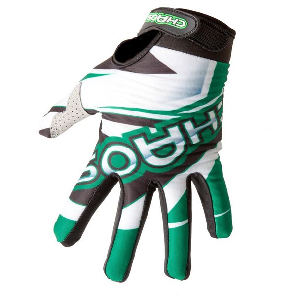 Chaos Adult Motocross Gloves Green