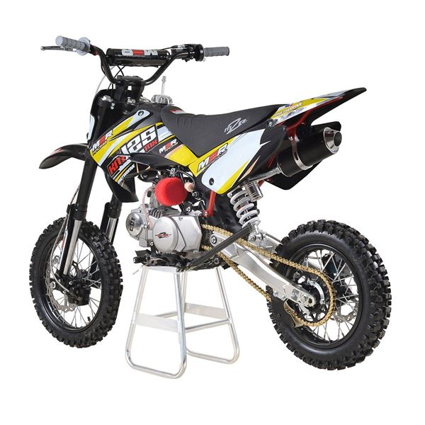 M2R Racing KM125MX 125cc 82cm Yellow Pit Bike