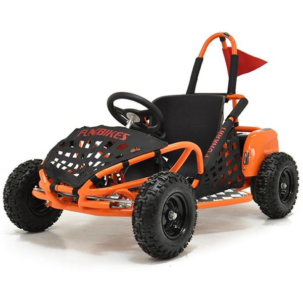 funbikes funkart 1000w electric orange kids mini go kart. Black Bedroom Furniture Sets. Home Design Ideas