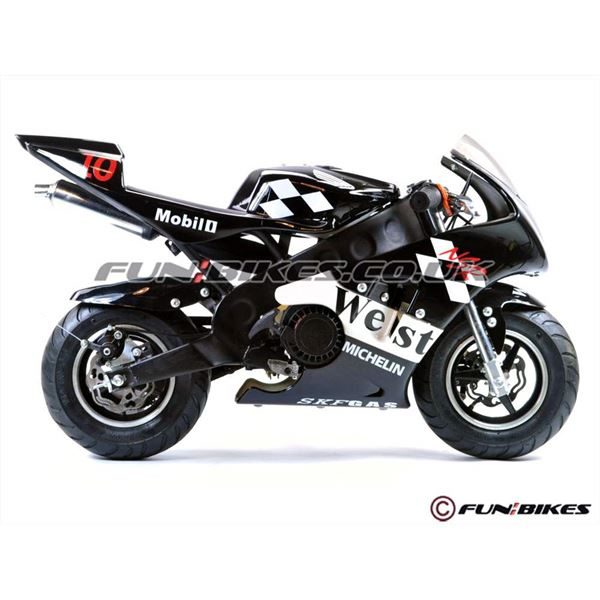 FunBikes MT4A 50cc 46cm Black Mini Moto Racing Bike