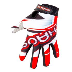 Chaos Adult Motocross Gloves Red