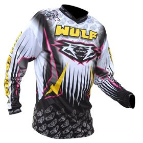 Wulfsport Arena Race Shirt Black & Yellow