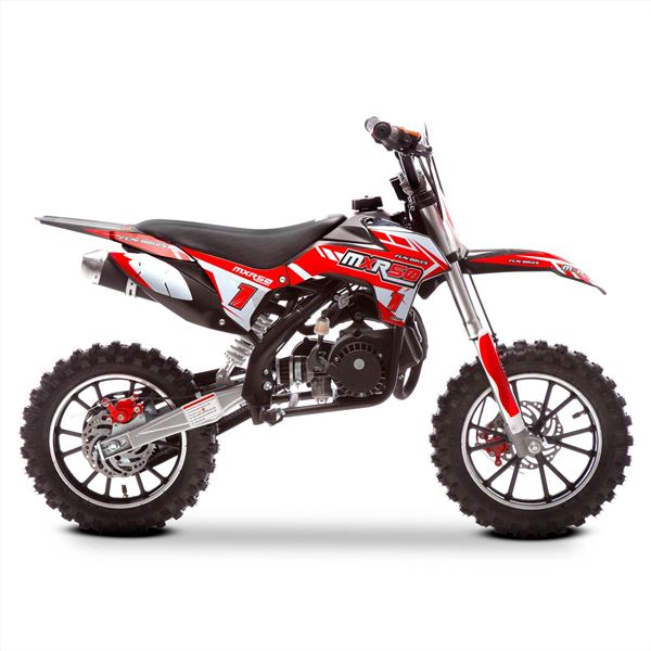 FunBikes MXR 50cc 61cm Red Black Kids Mini Dirt Motorbike