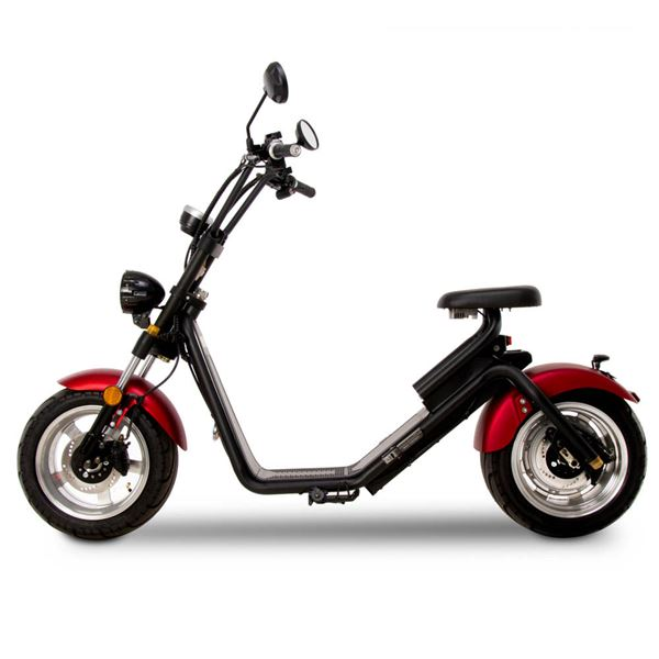 FunBikes Harley Fat Boy Red Road Legal Electric Scooter