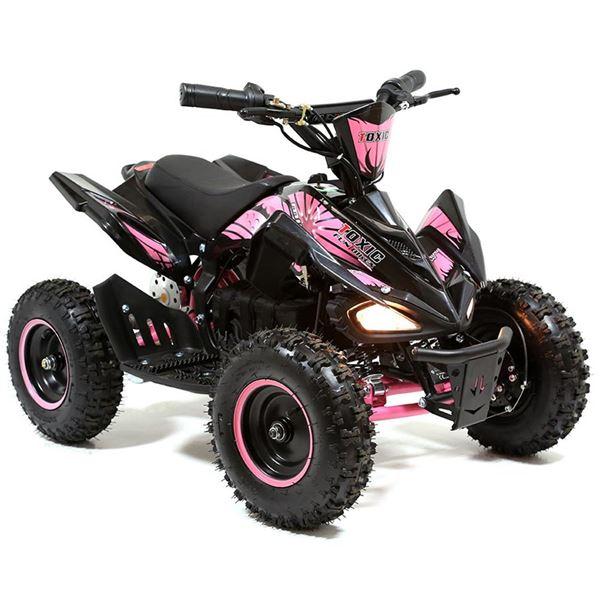 FunBikes Toxic 800w Black Pink Kids Electric Mini Quad Bike