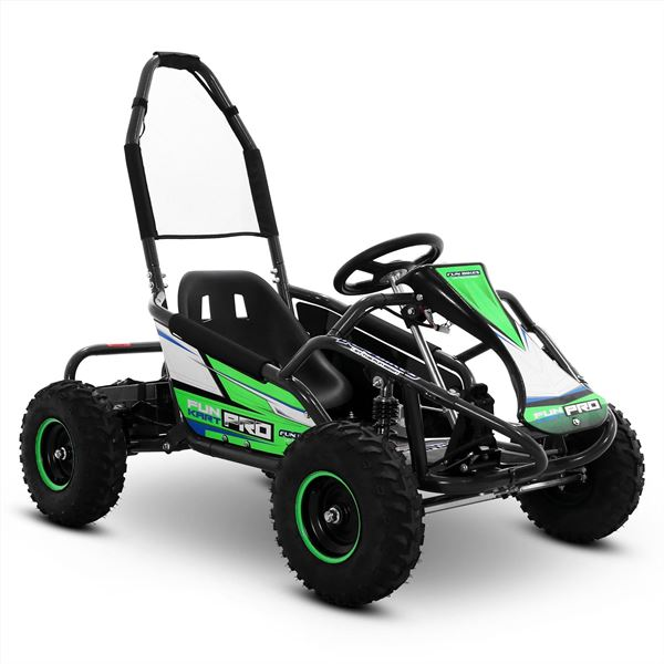 FunBikes 1000w Funkart PRO Kids Green Electric Go Kart