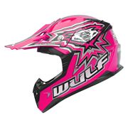 Wulfsport Junior Motocross Kids Crash Helmet Pink