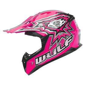 Wulfsport Junior Flite Xtra Kids Crash Helmet Pink
