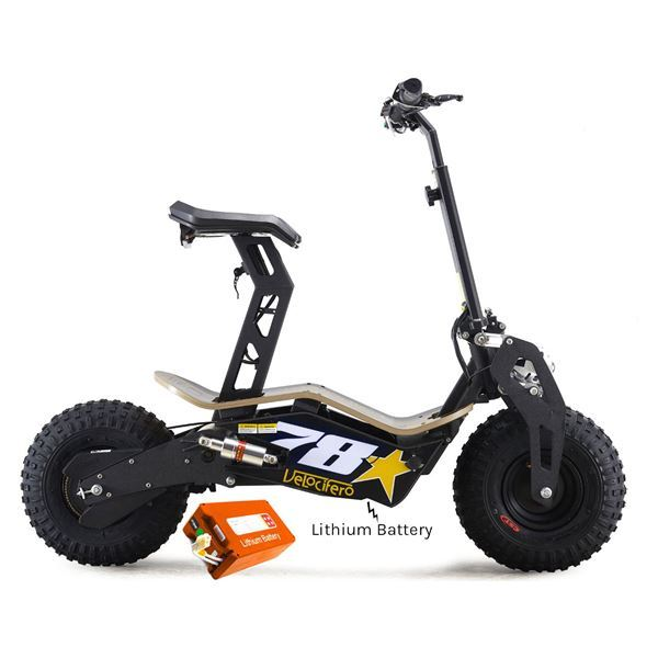 Velocifero MAD 48 Volt 1600W Lithium Battery No 78 Electric Scooter