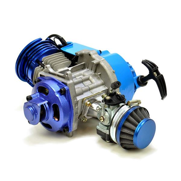 mini moto quad motard dirt bike 50cc race engine blue. Black Bedroom Furniture Sets. Home Design Ideas