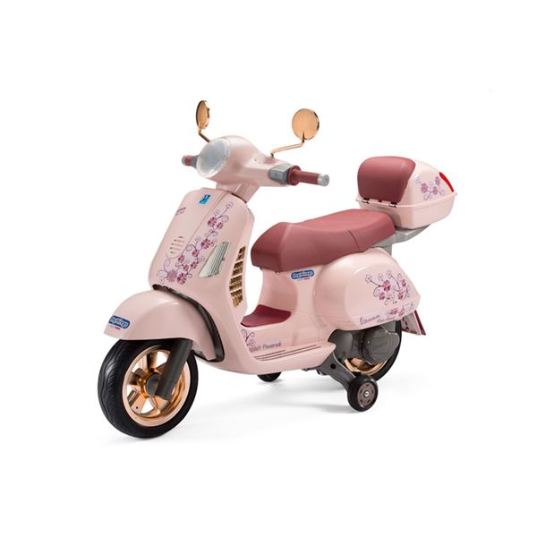 Peg Perego Vespa with Case Mon Amour 12v Kids Electric Motorcycle