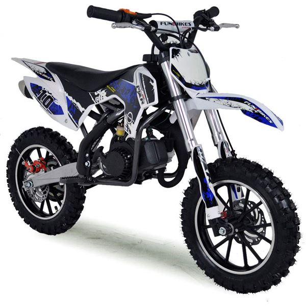 funbikes mxr 50cc petrol 61cm dark blue kids mini dirt bike