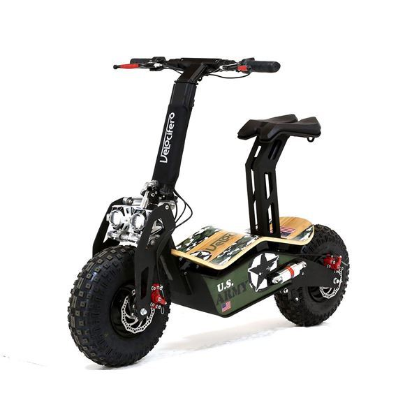 Velocifero MAD 48 Volt 1600W US Army Camo Electric Scooter