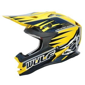 Wulfsport Kids Advance Crash Helmet Yellow