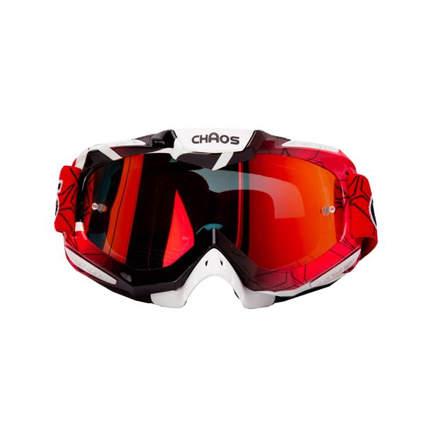 Chaos Adults MX Goggles Red